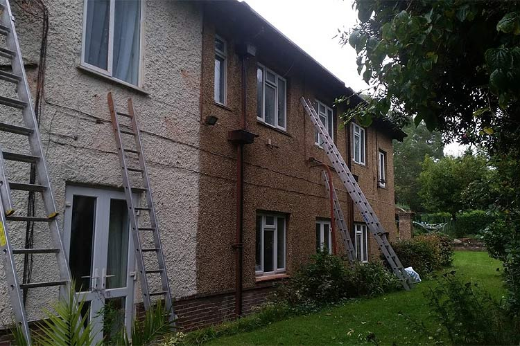 Cavity wall insulation injection