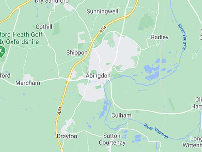 google map of abingdon