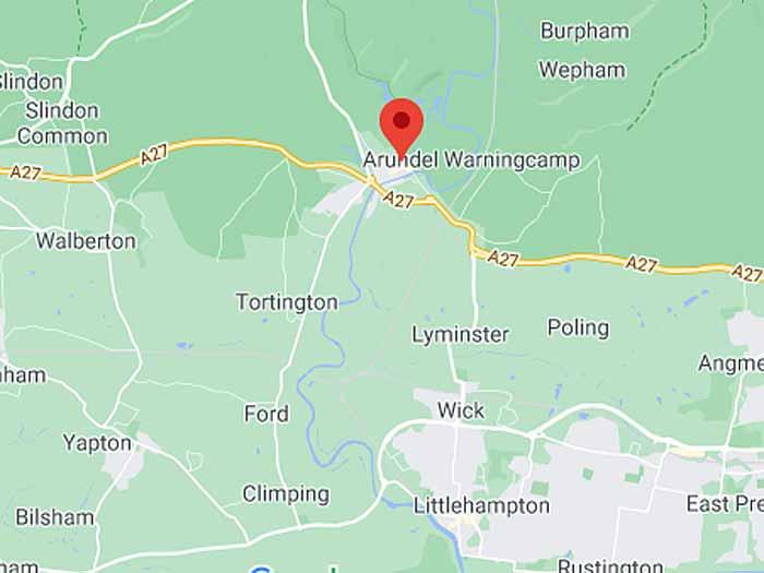 google map of arundel