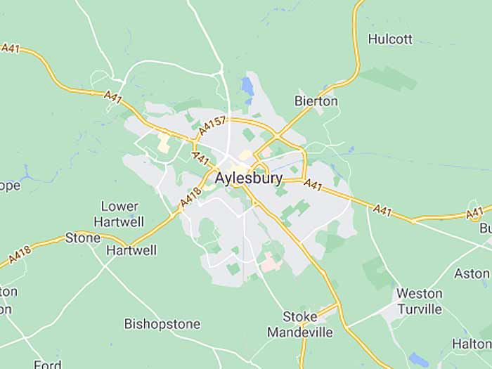 google map of aylesbury