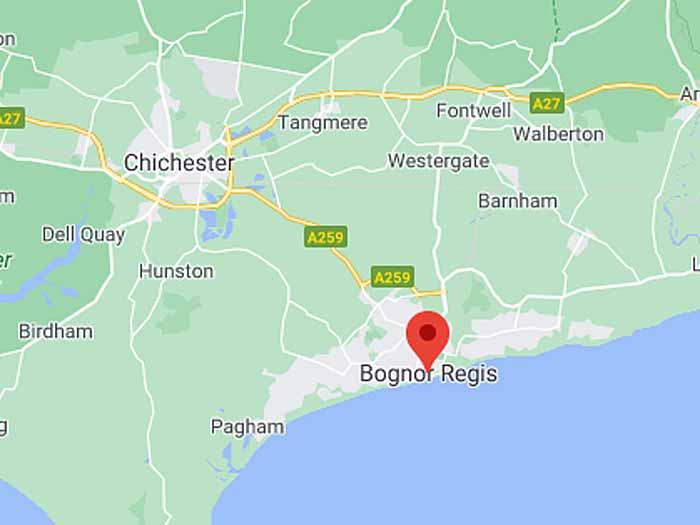 google map of bognor-regis