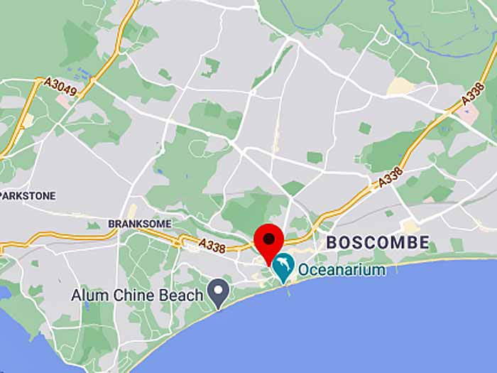 google map of bournemouth