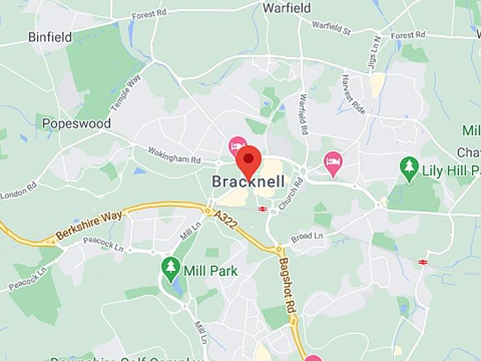 google map of bracknell