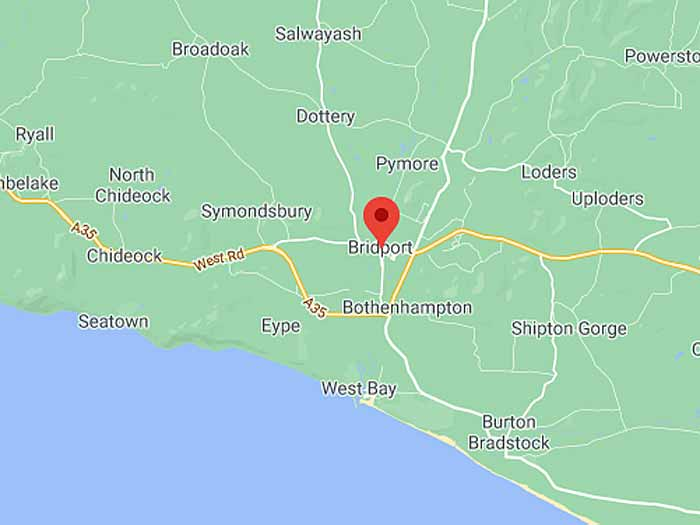 google map of bridport