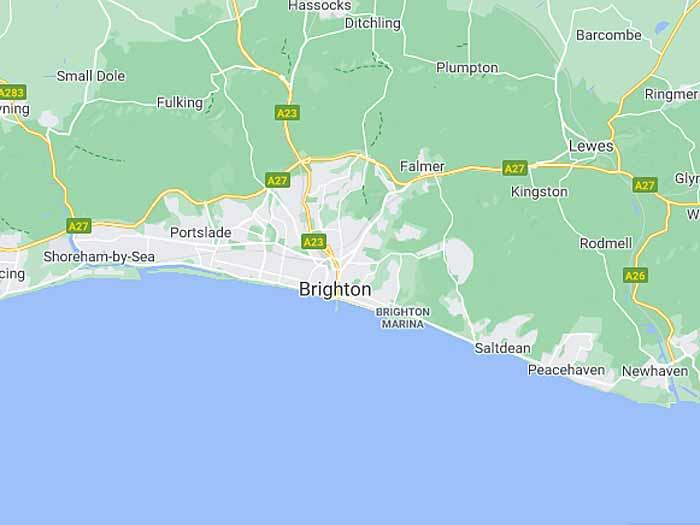 google map of brighton-hove