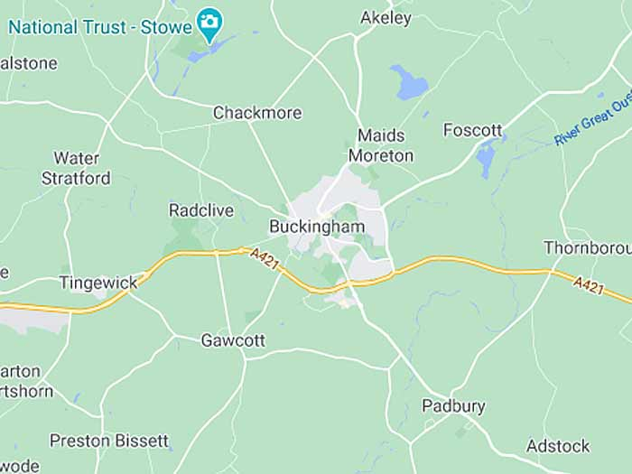 google map of buckingham