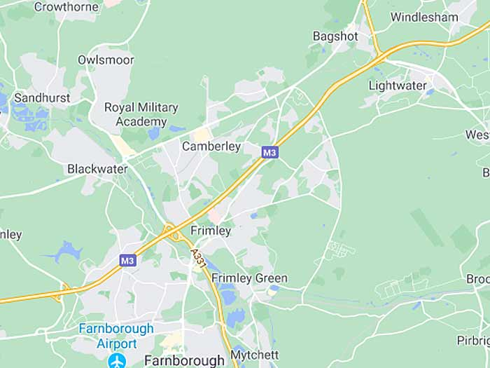 google map of camberley