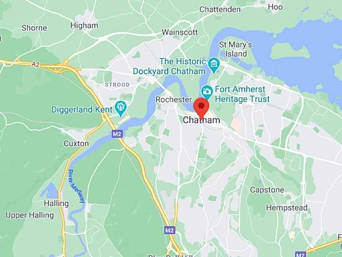 google map of chatham