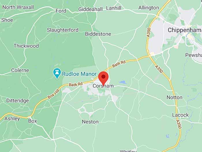 google map of corsham