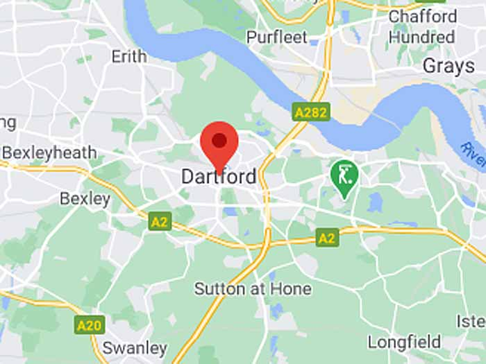 google map of dartford