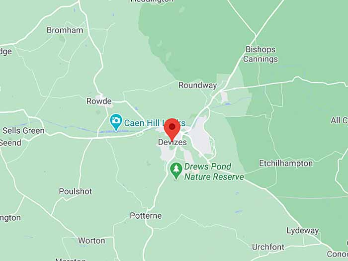 google map of devizes