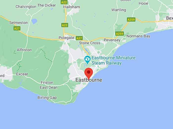 google map of eastbourne