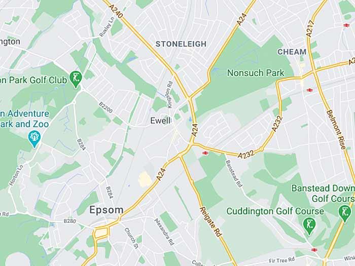 google map of ewell