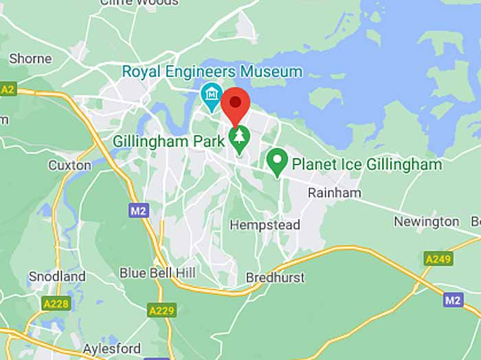 google map of gillingham