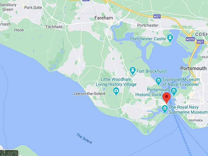 google map of gosport
