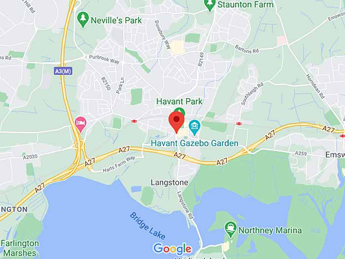 google map of havant