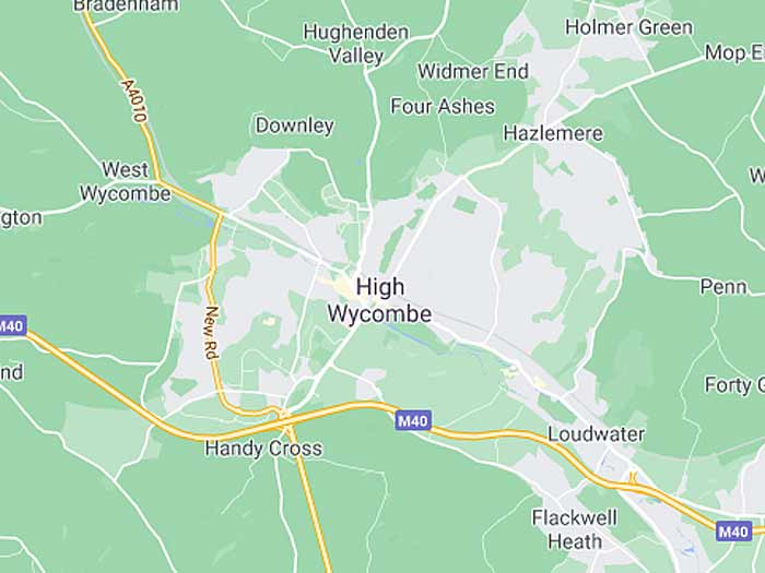 google map of high-wycombe