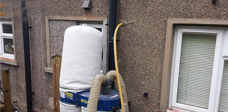 Wall insulation extraction