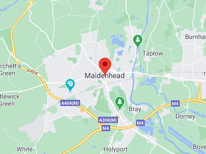 google map of maidenhead
