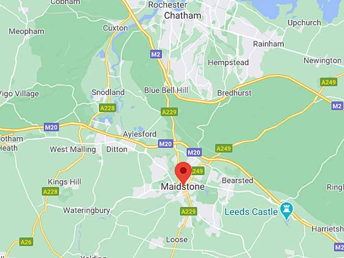 google map of maidstone