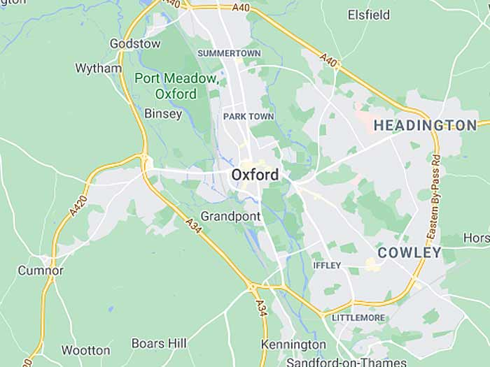 google map of oxford