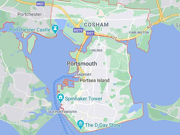 google map of portsmouth