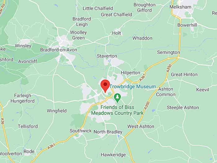 google map of trowbridge