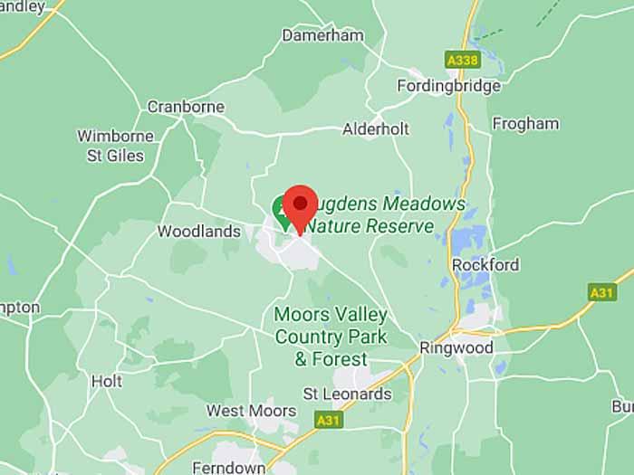 google map of verwood