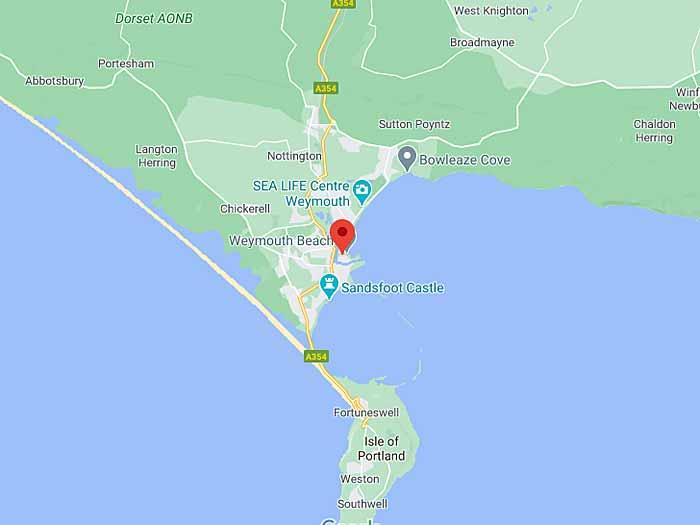 google map of weymouth