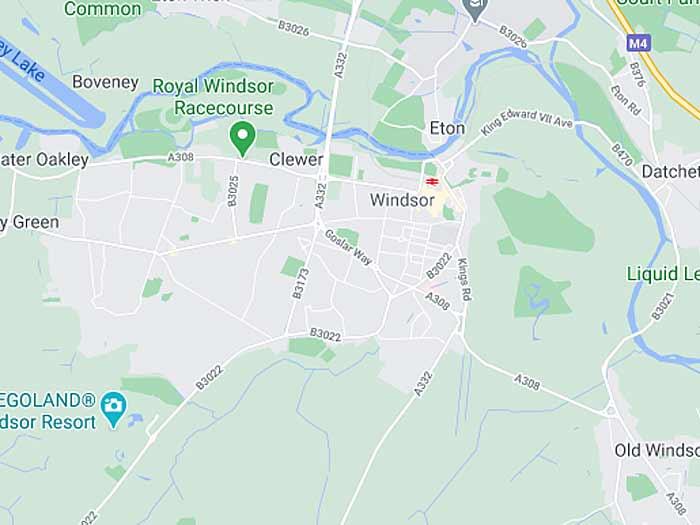 google map of windsor