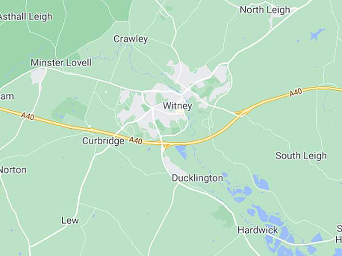 google map of witney