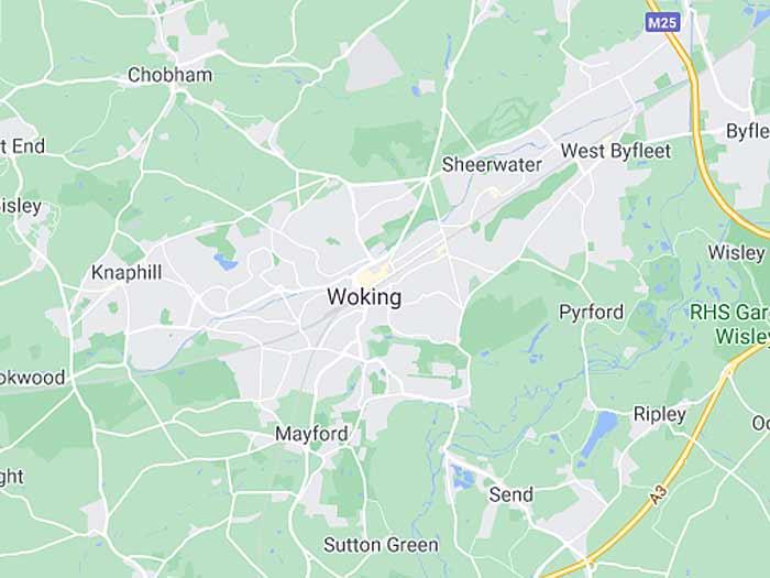 google map of woking